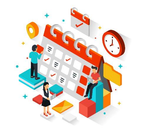 تقویم مدیریت پروژه آنلاین بهتایم